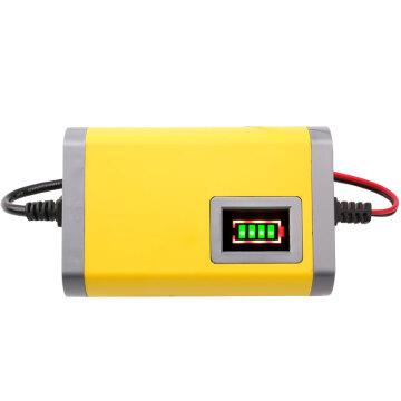 12v蓄电瓶充电器可用30安以下背机船机捕鱼器-最轻电鱼机智能铅酸蓄充电机